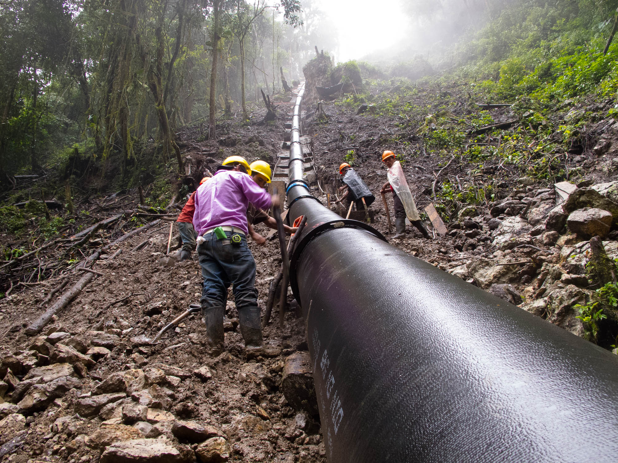 Tuberia penstock para centrales hidroelectricas