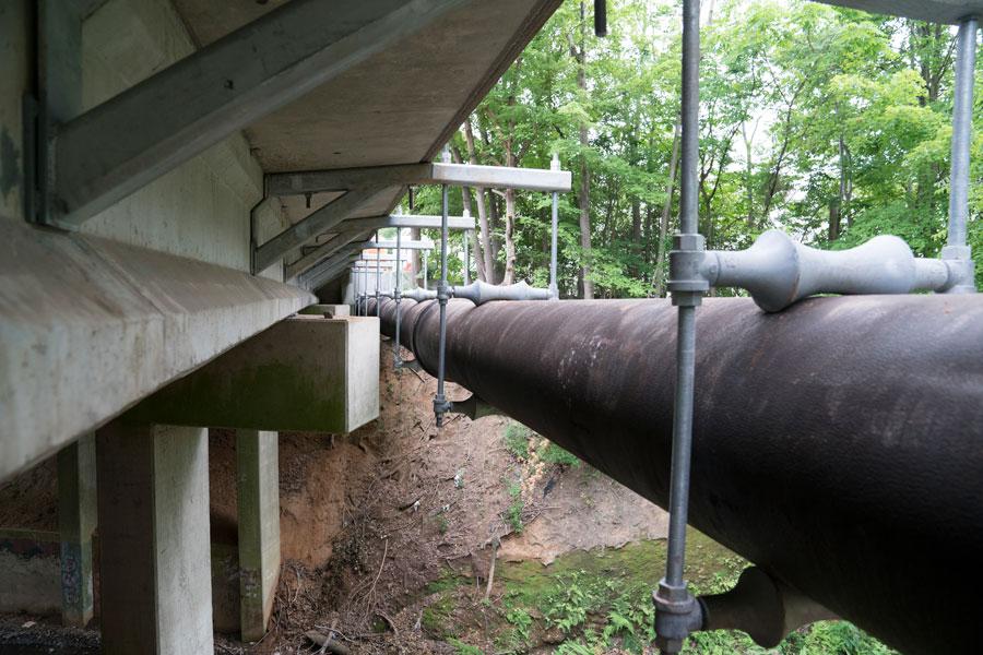 Tuberías de fundición dúctil para conducciones en puentes