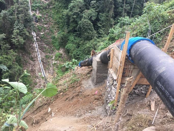 Tuberías de fundición para hidroeléctricas.